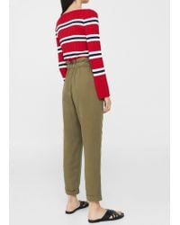 Mango - Natural Soft Cord Trousers - Lyst