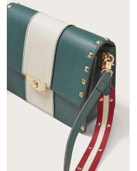 Violeta by Mango - Green Stud Cross Body Bag - Lyst