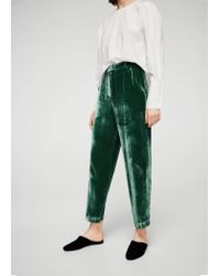 Mango - Green Trousers - Lyst