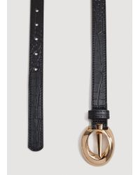 Mango - Black Belt - Lyst