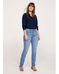 Violeta by Mango - Blue Slim-fit Susan Jeans - Lyst