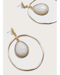 Violeta by Mango - Metallic Earrings - Lyst