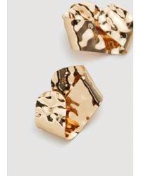Mango - Metallic Embossed Earring - Lyst
