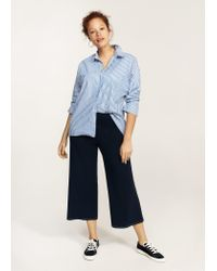 Violeta by Mango | Blue Contrast Seam Trousers | Lyst