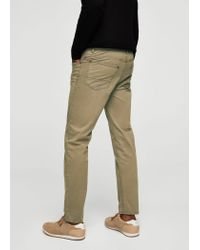 Mango - Natural 5-pocket Cotton Trousers for Men - Lyst