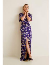 deddf2bb5aa Mango Floral Print Dress in Purple - Lyst