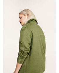 Violeta by Mango - Green Metallic Star Jacket - Lyst