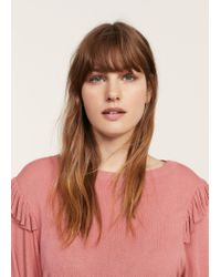 Violeta by Mango | Pink Puffed Sleeves Sweater | Lyst