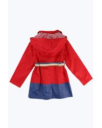 Marc Jacobs | Red Cotton Twill Hooded Raincoat | Lyst