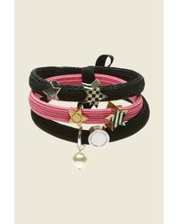 Marc Jacobs | Pink Stripe And Checkerboard Cluster Ponys | Lyst