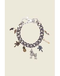 Marc Jacobs - Metallic Tropical Charm Statement Bracelet - Lyst