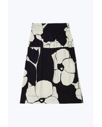 Marc Jacobs - Black Flower Print Skirt - Lyst