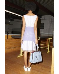 Marc Jacobs Blue Pleated Belt Dress