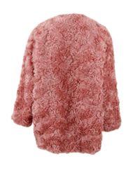 Stella McCartney   Red Elina Faux Fur Coat   Lyst