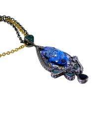 Sevan Biçakci - Blue Carved Peacock Lotus Neckace - Lyst