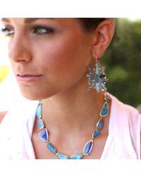 Irene Neuwirth - Blue Boulder Opal And Diamond Earrings - Lyst
