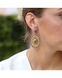 Silvia Furmanovich - Metallic Fire Opal And Diamond Earrings - Lyst