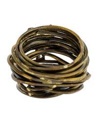 Boaz Kashi - Multicolor Baguette Diamond Wire Wrap Ring - Lyst