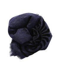 K. Janavi | Blue Velvet Lace Scarf | Lyst