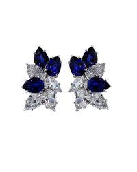 Fantasia Jewelry | Blue Sapphire Cluster Earrings | Lyst