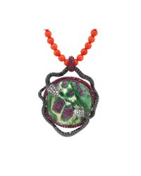 Wendy Yue - Multicolor Ruby Zoisite And Coral Bead Necklace - Lyst