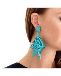 Oscar de la Renta - Green Lace Impatient Earrings - Lyst