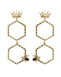 Alison Lou | Metallic Queen Bee Drop Earring | Lyst