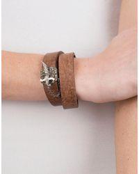 Sevan Biçakci - Brown Diamond Sword Clasp Double Wrap Leather Bracelet - Lyst