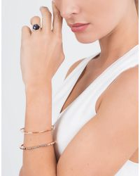 Monique Péan - Pink Diamond Baguette Hexagonal Open Cuff - Lyst
