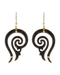 Boaz Kashi - Metallic Carved Earrings - Lyst