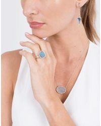 Monique Péan - Gilalite And White Diamond Triangular Drop Earrings - Lyst