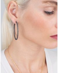 Yossi Harari | Brown Lilah Cognac Diamond Hoop Earrings | Lyst