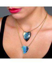 Irene Neuwirth - Blue Rose Cut Labradorite Heart Necklace - Lyst