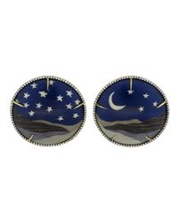 Silvia Furmanovich - Blue Marquetry Night Sky Moon And Star Earrings - Lyst