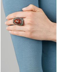 Sevan Biçakci - Multicolor Carved Pomegranate Ring In Citrine - Lyst
