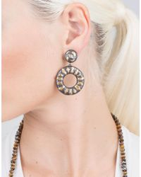 Yossi Harari - Yellow Large Libra Round Chandelier Earrings - Lyst