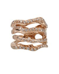 Lucifer Vir Honestus - Pink Corteccia Four Ring Set With Diamonds - Lyst