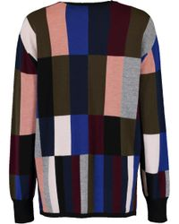 Victoria, Victoria Beckham Blue Swing Sweater