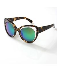 Erdem - Green Illusion Cat Eye Sunglasses - Lyst