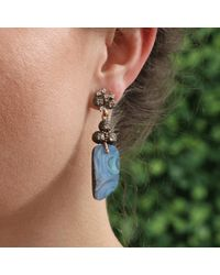 Federica Rettore - White Afrodite Earrings With Boulder Opal - Lyst