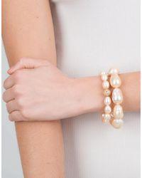 Jordan Alexander - Natural Beige Baroque Pearl Bracelet - Lyst
