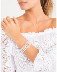 Sydney Evan | Metallic Diamond Pave Rainbow Charm Bracelet | Lyst