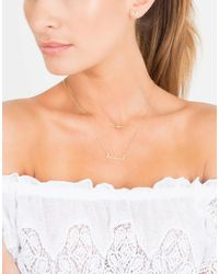 Sydney Evan | Metallic Small Diamond Cross Necklace | Lyst