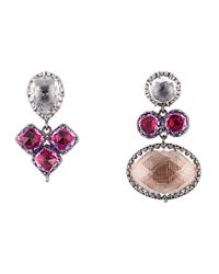 Larkspur & Hawk - Metallic Sadie Mis-matched Peony Earrings - Lyst