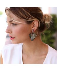 Silvia Furmanovich - Carved Black Mother Of Pearl Earrings - Lyst