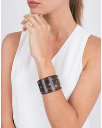 Federica Rettore - Black Multi Color Sapphire Ebony Wood Bracelet - Lyst