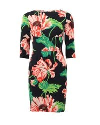 Stella McCartney | Black Floral Print Dress | Lyst