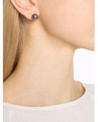 Fantasia Jewelry - Gray Pearl Stud Earrings - Lyst