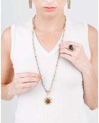 Sylva & Cie - Multicolor Golden Sapphire Ring - Lyst
