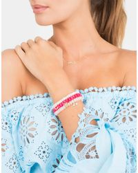 Sydney Evan - Metallic Diamond Pave Horseshoe Charm Bracelet - Lyst